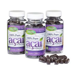 100% Pure Acai Berry 700mg with No Fillers or Bulking Agents - 180 Capsules