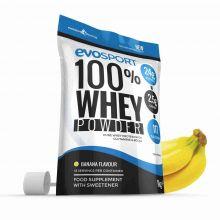 EvoSport 100% Whey Protein Powder 1kg - Banana