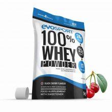 EvoSport 100% Whey Protein Powder 1kg - Black Cherry