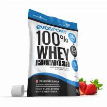 EvoSport 100% Whey Protein Powder 1kg - Strawberry