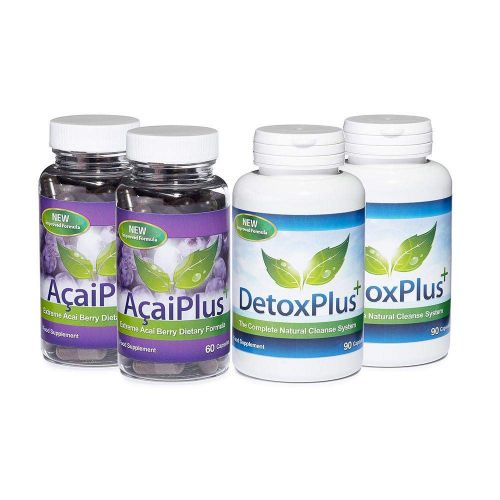 100% Pure Acai Berry Colon Cleanse Combo 1 Month Supply - 2 Month Supply
