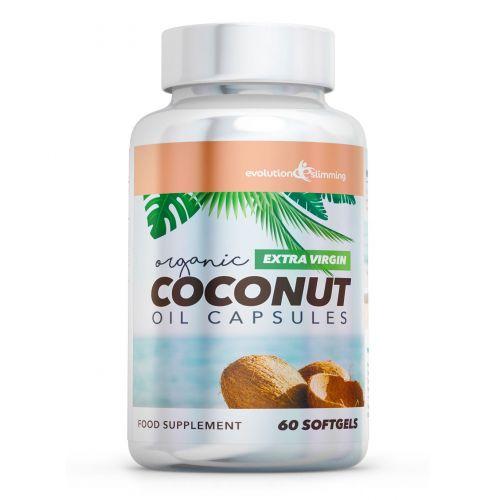 Extra Virgin Organic Coconut Oil Capsules 1,000mg - 180 Capsules