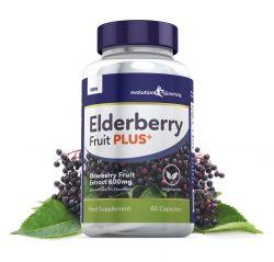 Elderberry Fruit Plus Elderberry Fruit Extract 600mg (5% Flavanoids) - 180 Capsules