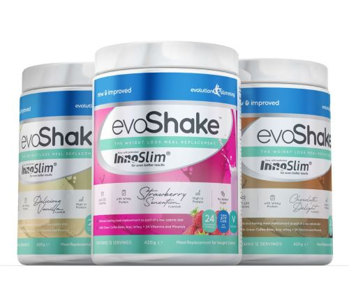 EvoShake Meal Replacement Whey Protein Diet Shake 3 for 2 Offer - Chocolate Delight / Strawberry Sensation / Strawberry Sensation