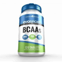 EvoSport BCAA Branched Chain Amino Acid Tablets - 120 Tablets