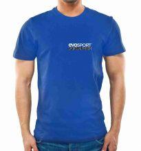 EvoSport Blue 100% Cotton T-Shirt