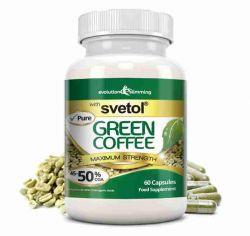 Pure Svetol Green Coffee Bean with 50% CGA - 60 Capsules