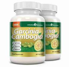 Garcinia Cambogia 1000mg 60% HCA with Potassium and Calcium - 2 Bottles (120 Capsules)
