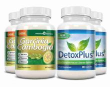Garcinia Cambogia Cleanse Combo 1000mg 60% HCA with Potassium and Calcium - 2 Month Supply