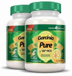 Garcinia Pure 100% Pure Garcinia Cambogia 1000mg 60% HCA - 2 Month Supply