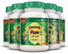 Garcinia Pure 100% Pure Garcinia Cambogia 1000mg 60% HCA - 6 Month Supply (5 Plus 1 Free)