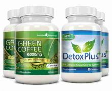 Green Coffee Bean Extract 6000mg Detox Combo Pack - 2 Month Supply