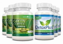 Green Coffee Bean Extract 6000mg Detox Combo Pack - 3 Month Supply