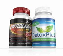 Hiprolean X-S Caffeine Free Fat Burner Cleanse Combo Pack - 1 Month Supply