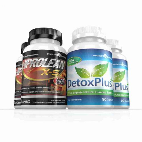 Hiprolean X-S Caffeine Free Fat Burner Cleanse Combo Pack - 2 Month Supply