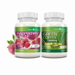 Raspberry Ketone Pure 600mg & Svetol Green Coffee Combo Pack - 1 Month Supply