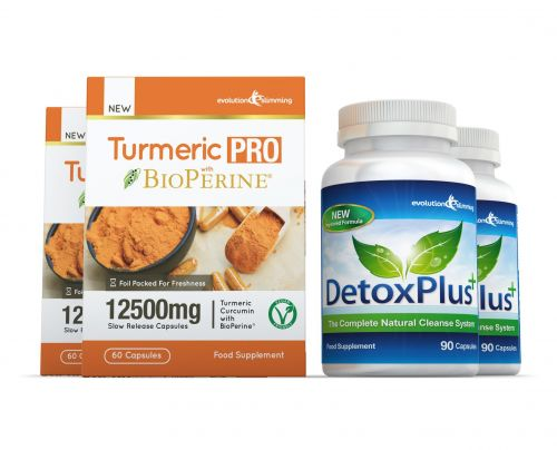 Turmeric Pro with BioPerine® & DetoxPlus Combo Pack - 2 Month Supply