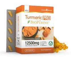 Turmeric Pro with BioPerine® 12,500mg 95% Curcuminoids - 60 Capsules