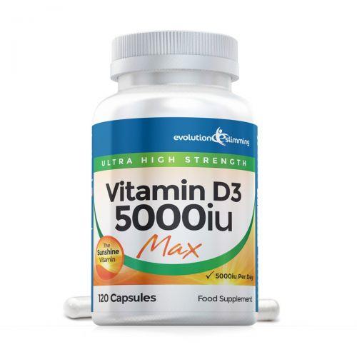 Vitamin D D3 5000iu Max Strength, Suitable for Vegetarians - 240 Capsules