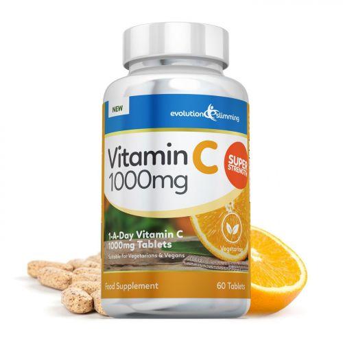 Vitamin C 1000mg Tablets, Suitable for Vegetarians & Vegans - 120 Tablets