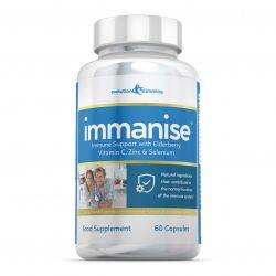 Immanise™ Immune Support Supplement with Elderberry, Vitamin C & Zinc - 180 Capsules