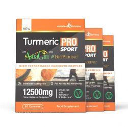 Turmeric Pro SPORT with AstraGin® plus BioPerine® 12,500mg 95% Curcuminoids - 180 Capsules (3 Months)
